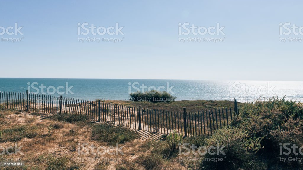 Wild beach in Ré Island royalty-free stock photo