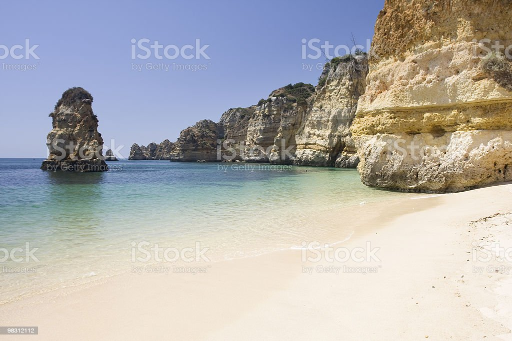 wild beach in summertime royalty-free stock photo
