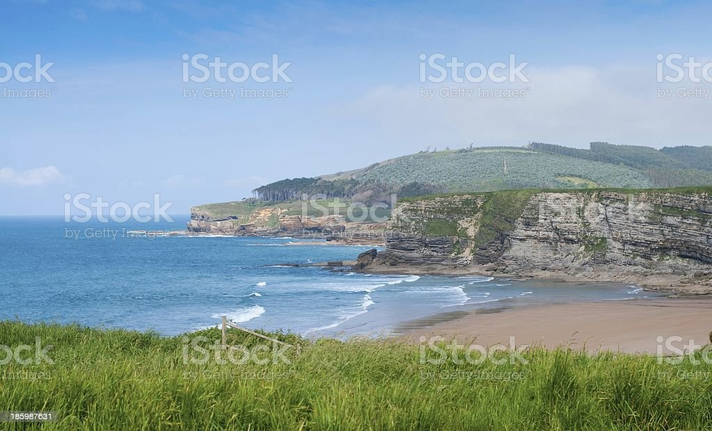 Wild Beach of Langre in Cantabria, Spain. royalty-free stock photo