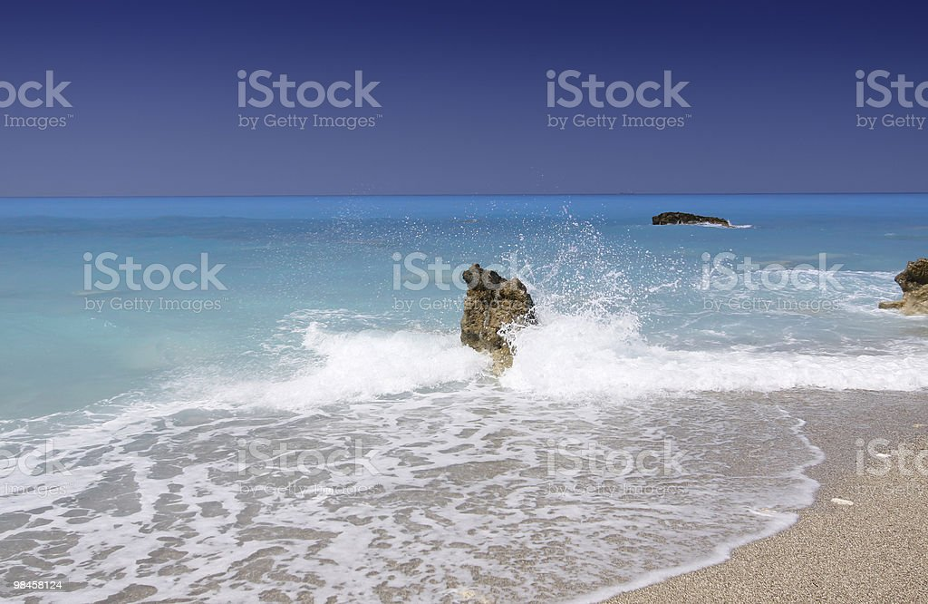 Wild beach royalty-free stock photo