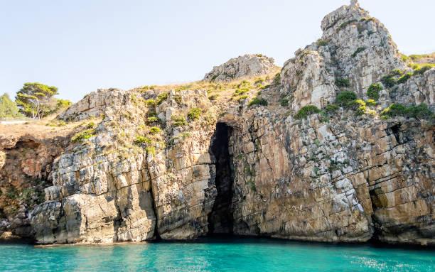 Wild beautiful coastline at the Zingaro Natural Reserve, Sicily, Italy - foto stock