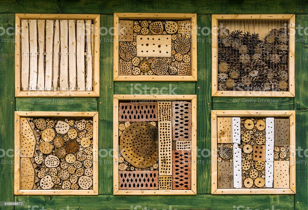 Wild Bee Hotel - Insect Hotel stock photo
