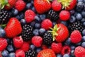 istock Wild berry mix - strawberries, blueberries, blackberries and raspberries 499658564
