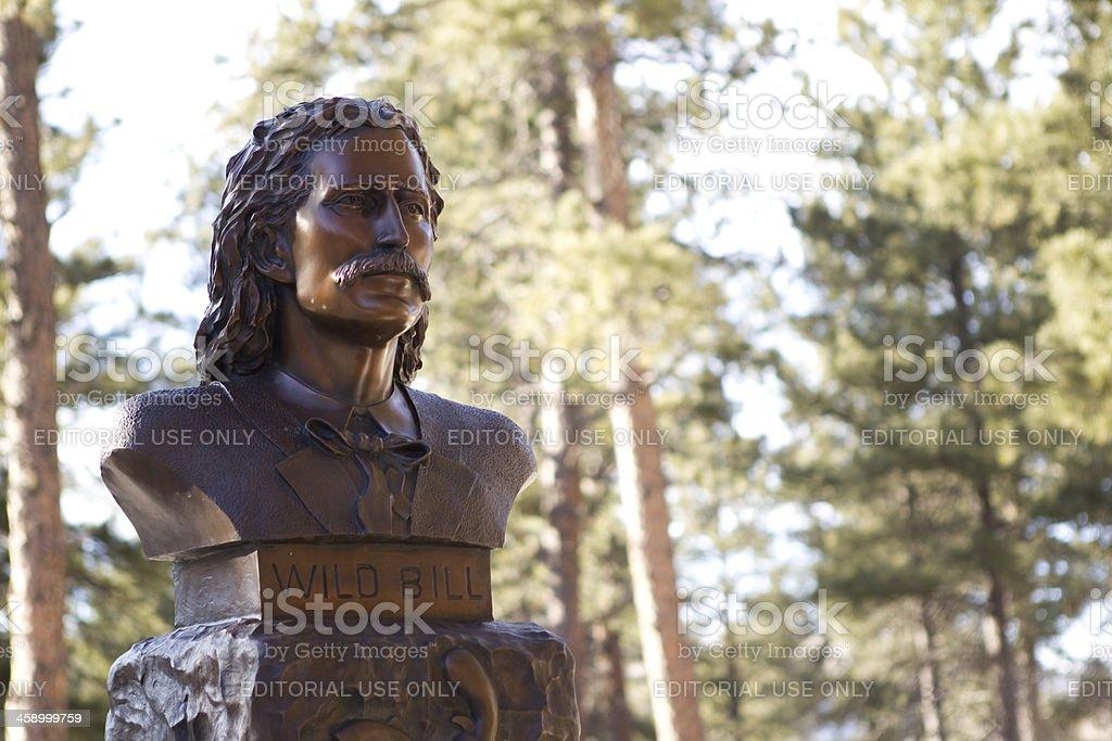 Wild Bill Hickok's Grave - Deadwood, South Dakota royalty-free stock photo