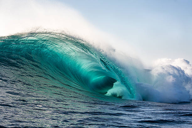 wild blue - wave stock photos and pictures