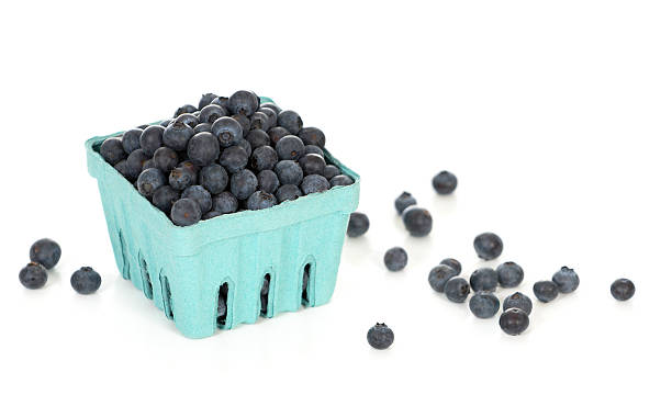Wild Blueberries From the Local Market stock photo