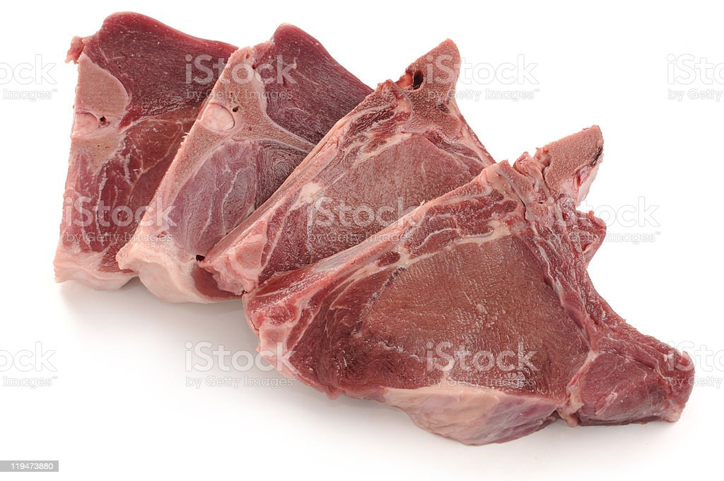 Wild boar chops royalty-free stock photo
