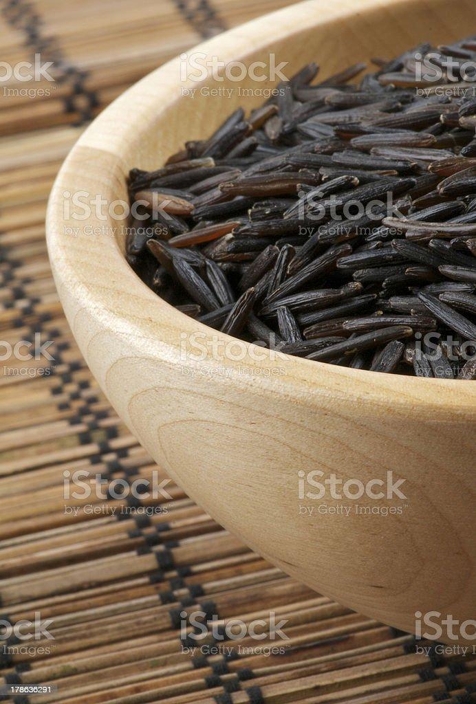 Wild Brown Rice royalty-free stock photo