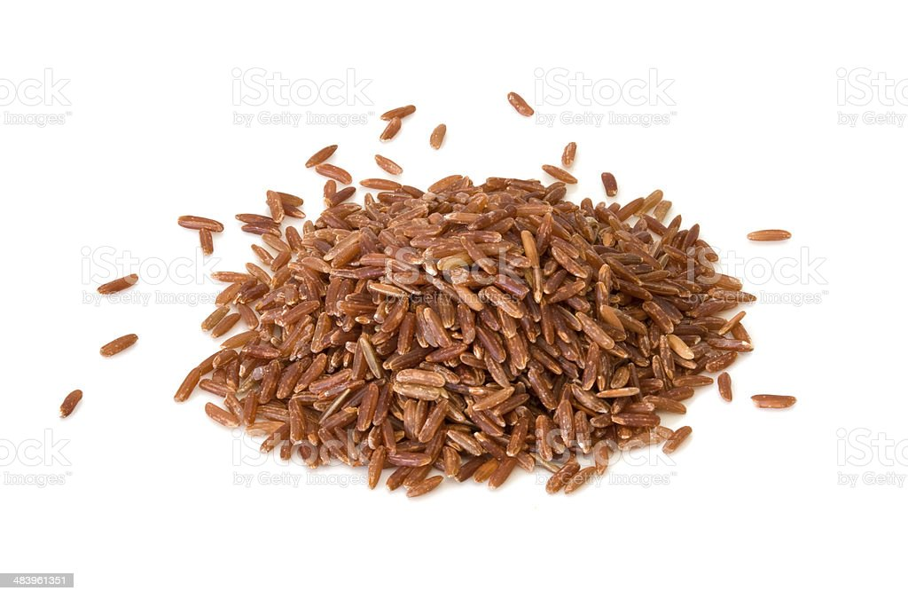 wild brown rice stock photo