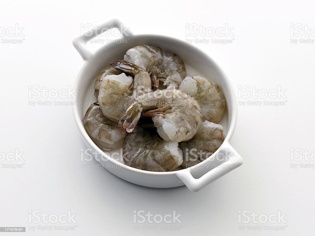 wild caught white shrimp stock photo