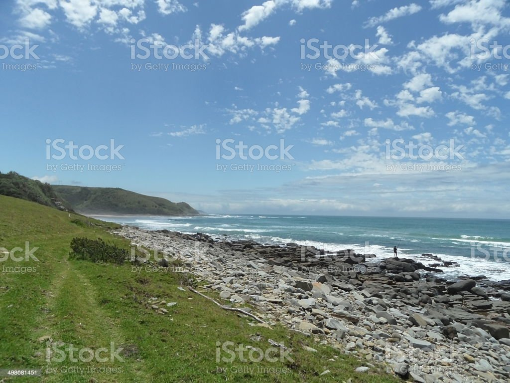 Wild Coast in South Africa stock photo