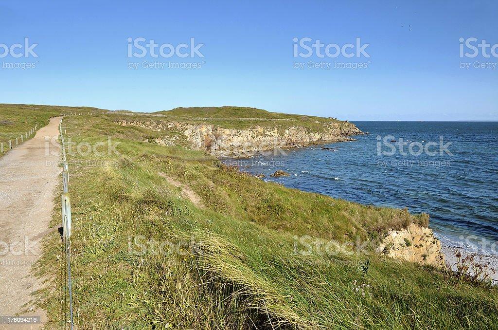 Wild Coast of Quiberon in France stock photo