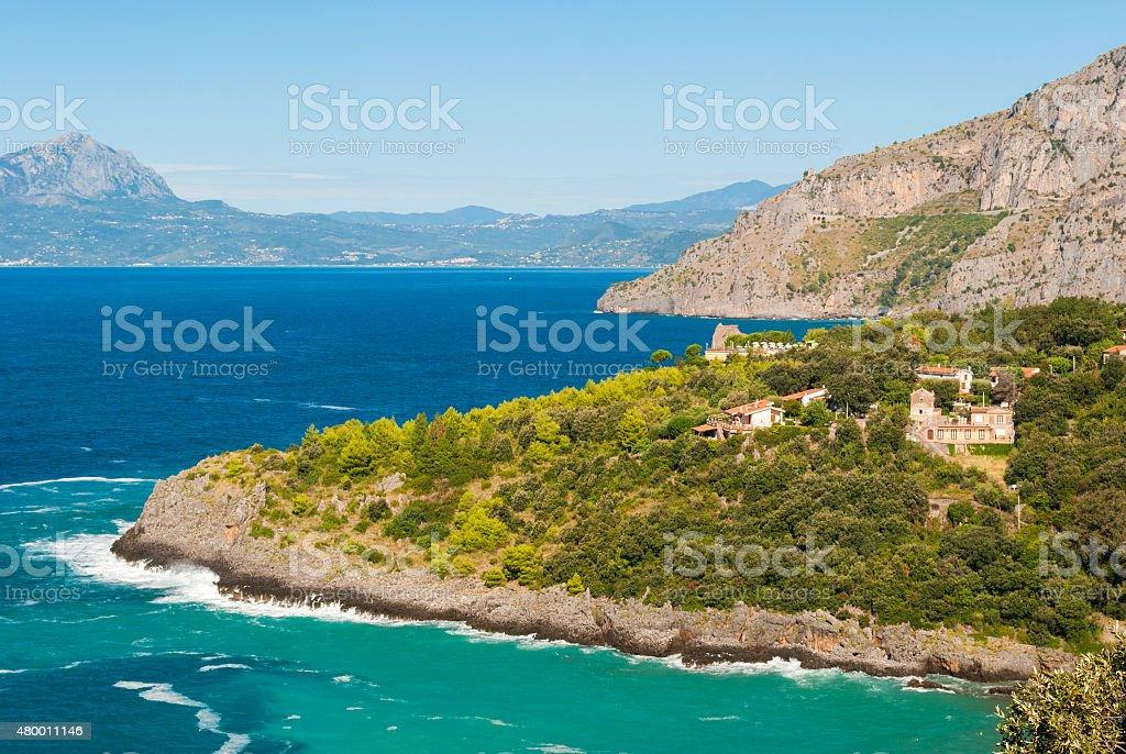 Wild costa vicino Maratea (sud Italia - foto stock