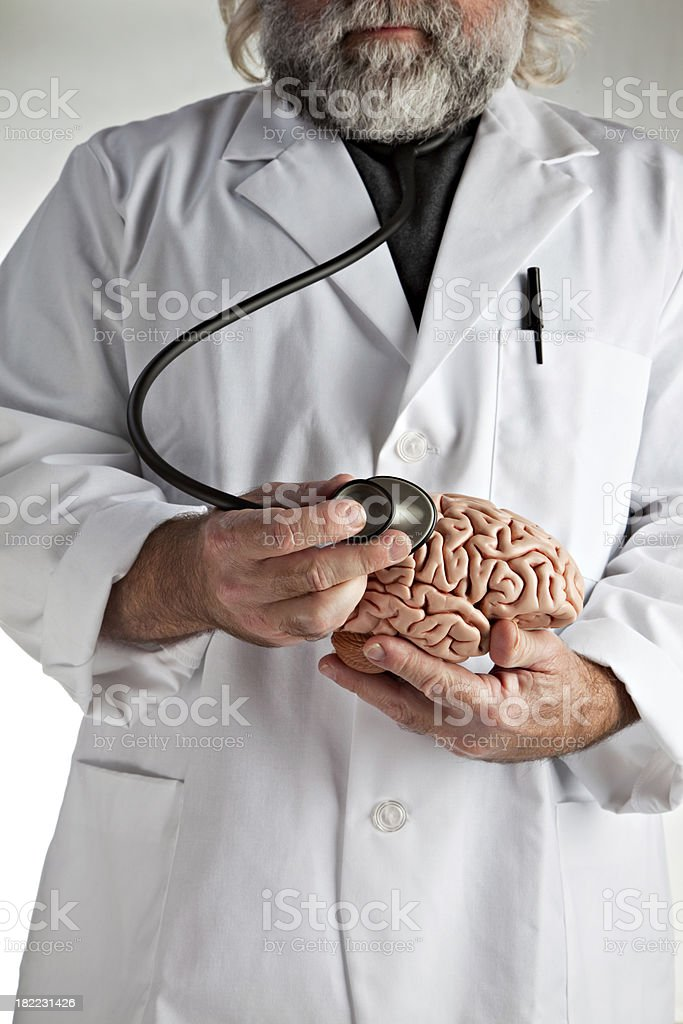 Wild Doctor With Brain stock photo