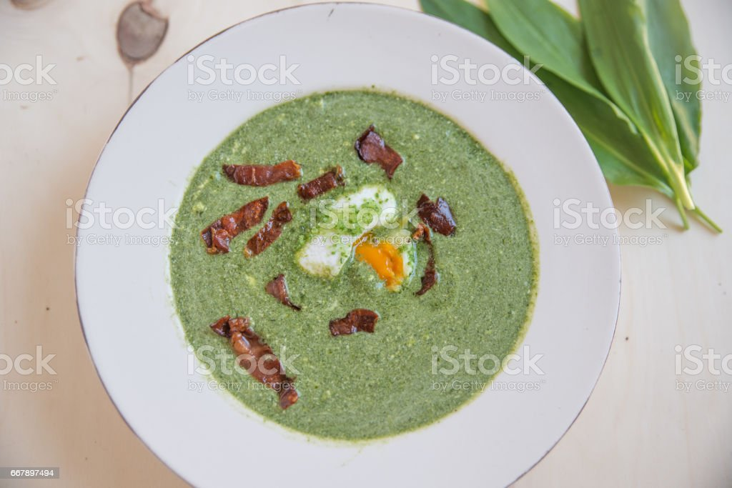 Bärlauch Suppe royalty-free stock photo