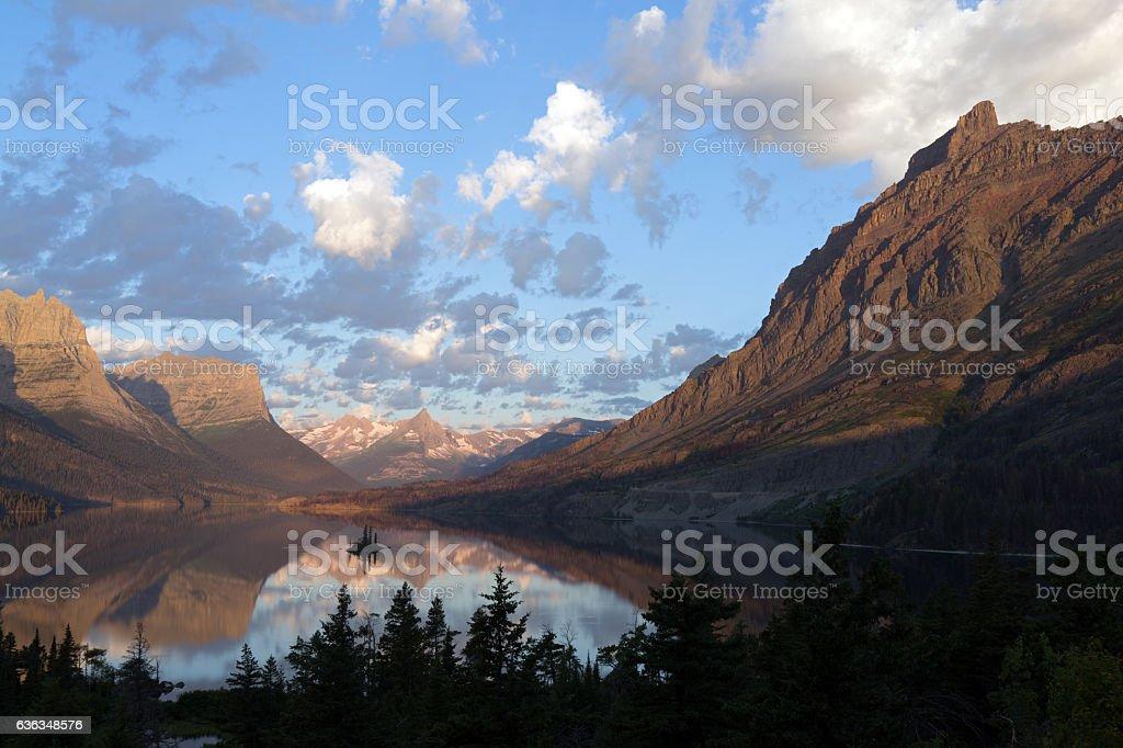 Wild Goose Island in Morning stock photo