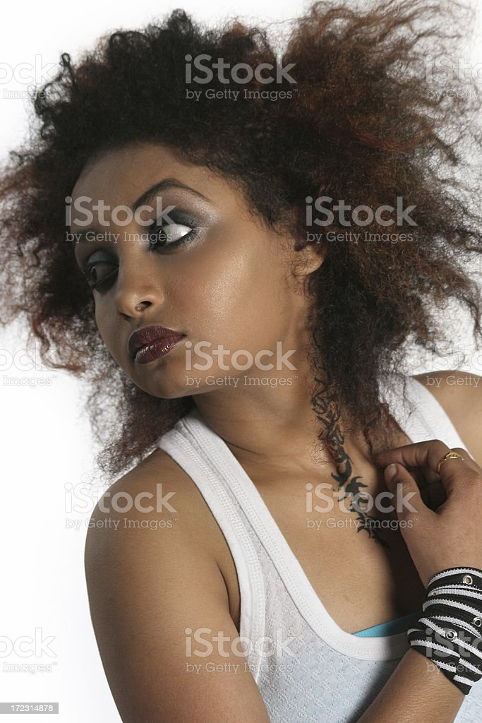 Wild Hairstyle royalty-free stock photo