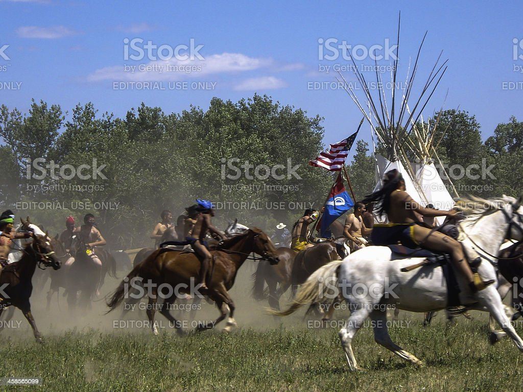 Wild Indian Warriors royalty-free stock photo