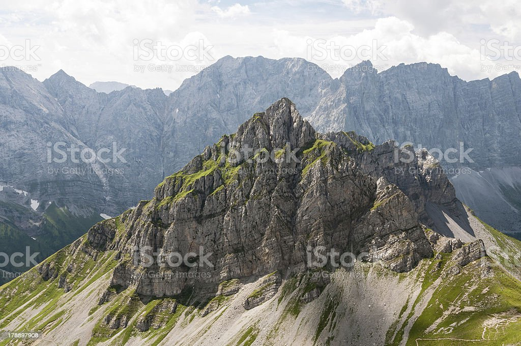 Wild Karwendel Mountain Peak royalty-free stock photo