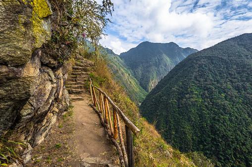 istock Inca Trail, Peru - August 03, 2017: Wild landscape of the Inca Trail, Peru 867798486