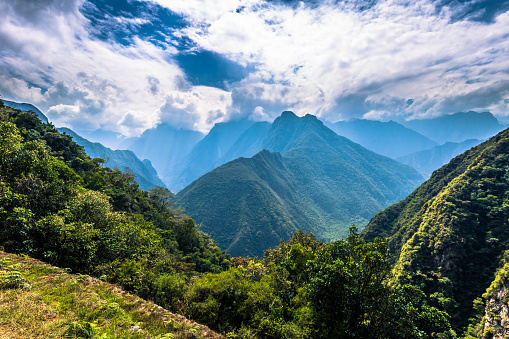 istock Inca Trail, Peru - August 03, 2017: Wild landscape of the Inca Trail, Peru 867798672