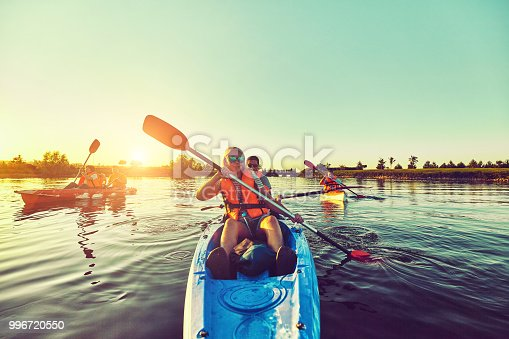 istock Wild nature and water fun on summer vacation. Camping and fishing. 996720550