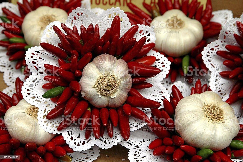 Wild onion-Chili-Bouquet stock photo