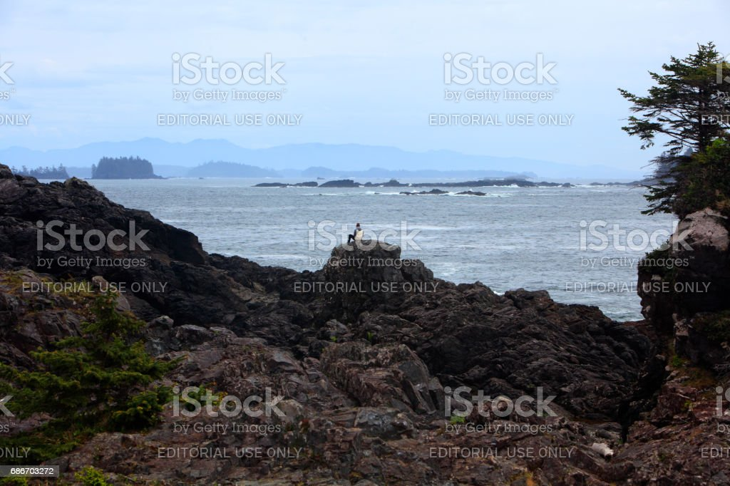 Wild Pacific Trail Ucluelet Vancouver Island stock photo