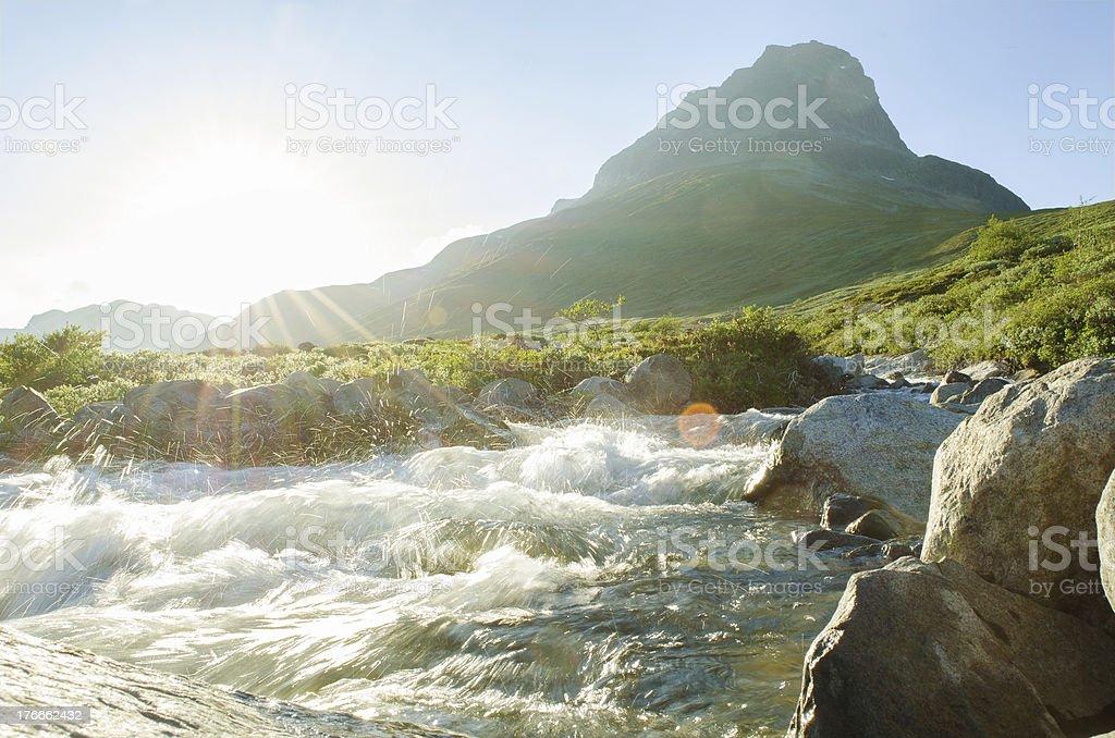 Wild river sun royalty-free stock photo