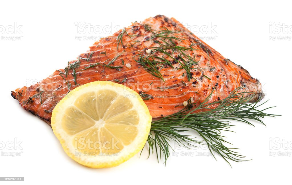 Wild sockeye salmon fillet royalty-free stock photo