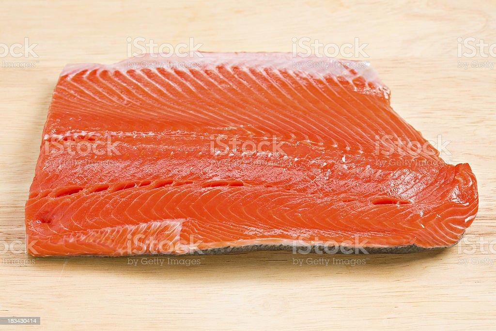 Wild Sockeye Salmon royalty-free stock photo