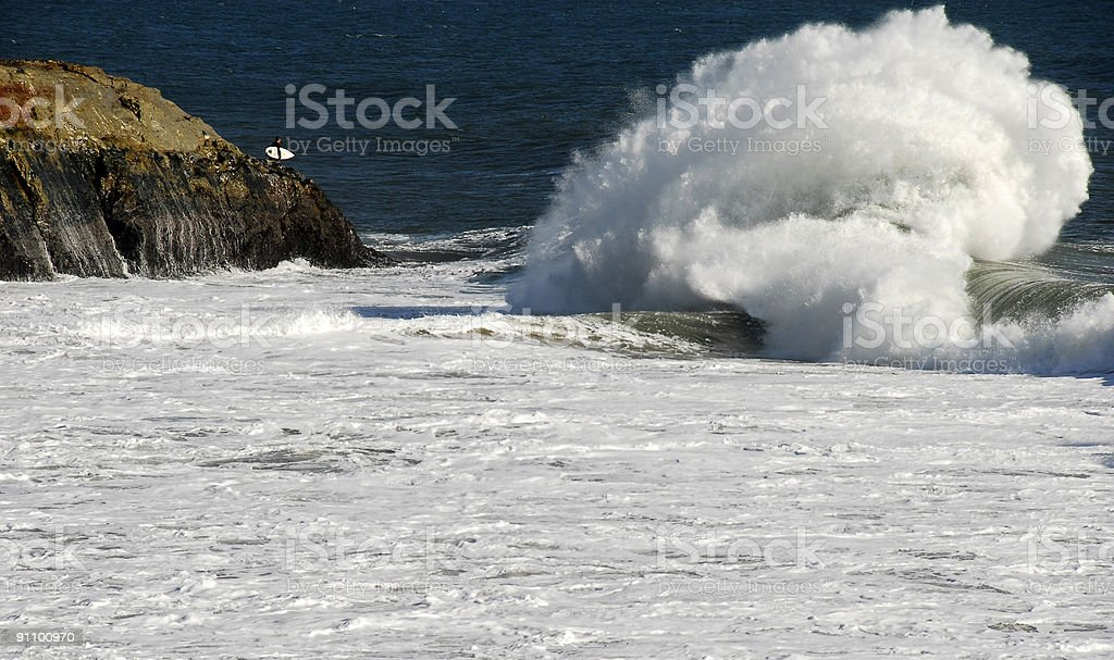 Wild surf stock photo
