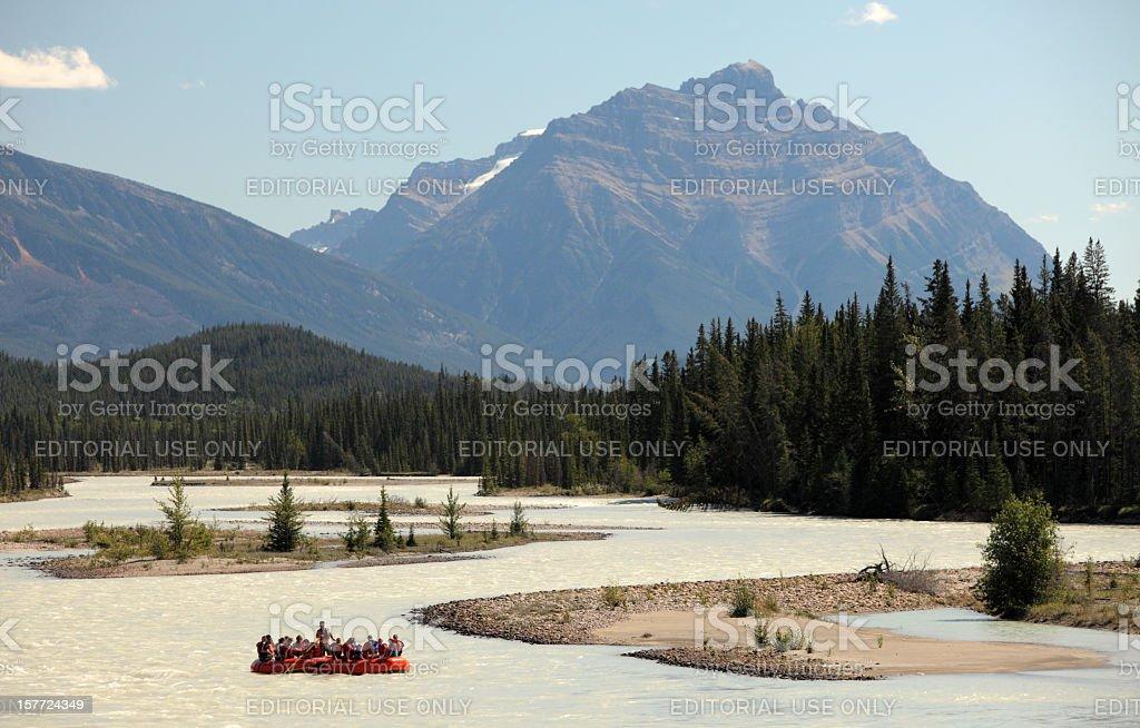 Wild water rafting in Jasper royalty-free stock photo