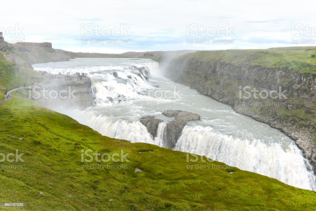 Wild water waterval royalty free stockfoto