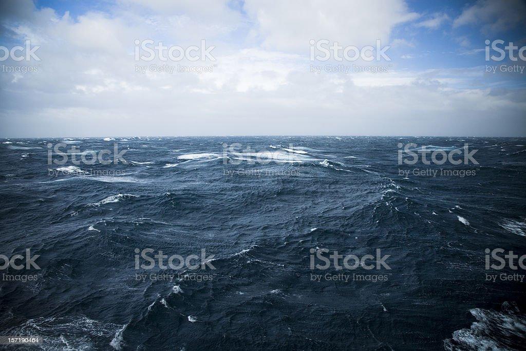 Wild Waters Drake Passage stock photo