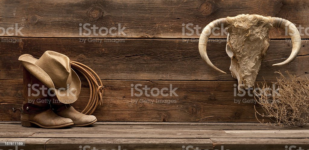 Wild West banner stock photo