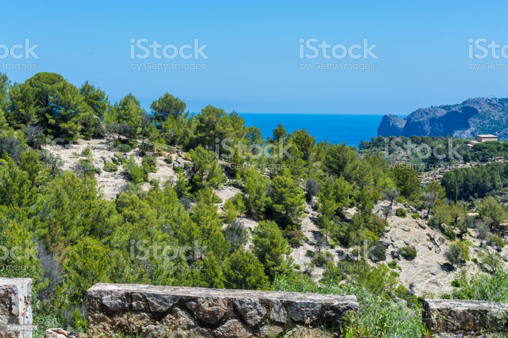 Wild West Coastline overlooking the sea. stock photo