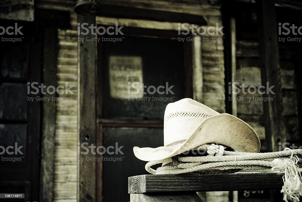 Wild West Cowboy Hat royalty-free stock photo