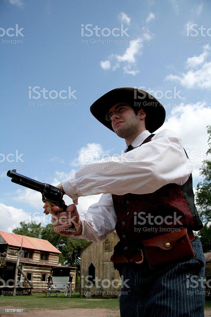 Wild West Draw royalty-free stock photo
