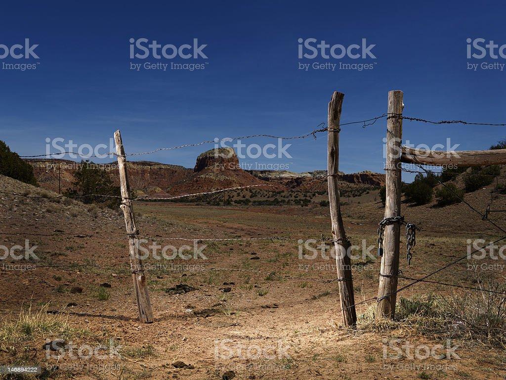 Wild West Fence royalty-free stock photo