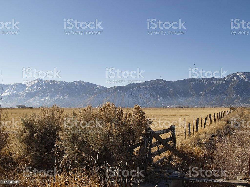 Wild West Frontier Ranch Valley View royalty-free stock photo