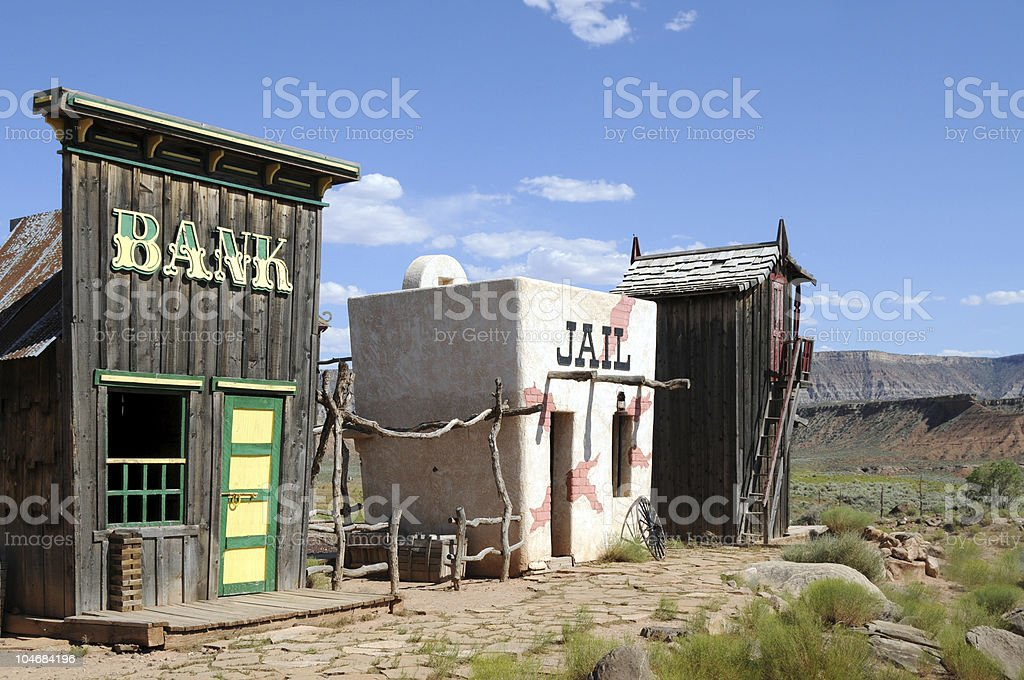 Wild west ghost town stock photo