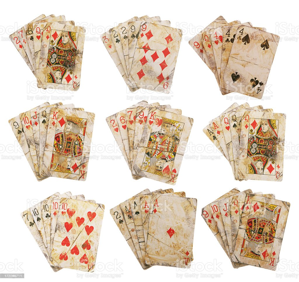 Wild West Poker Hands royalty-free stock photo