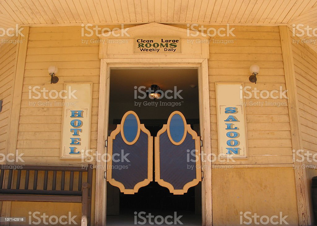 Wild West Saloon Doors stock photo
