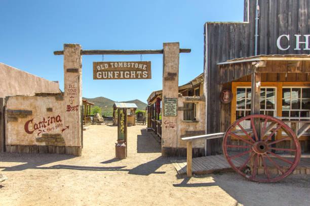 Wild West Style Facade In Tombstone Arizona stock photo