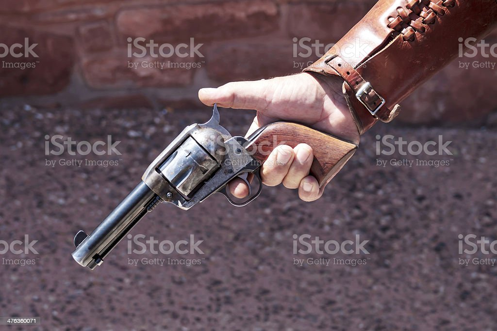 Wild West Style Pistol royalty-free stock photo