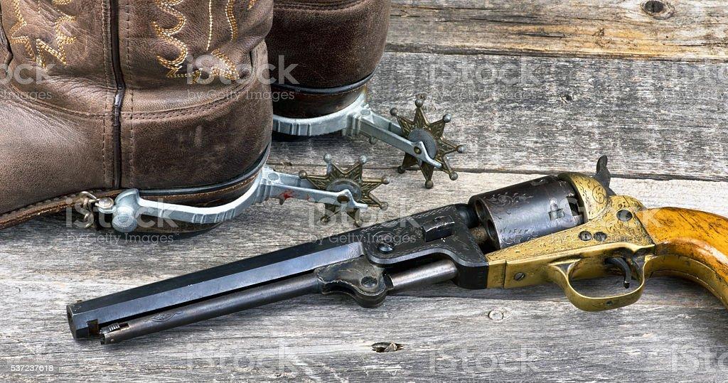 Wild West Tools. stock photo