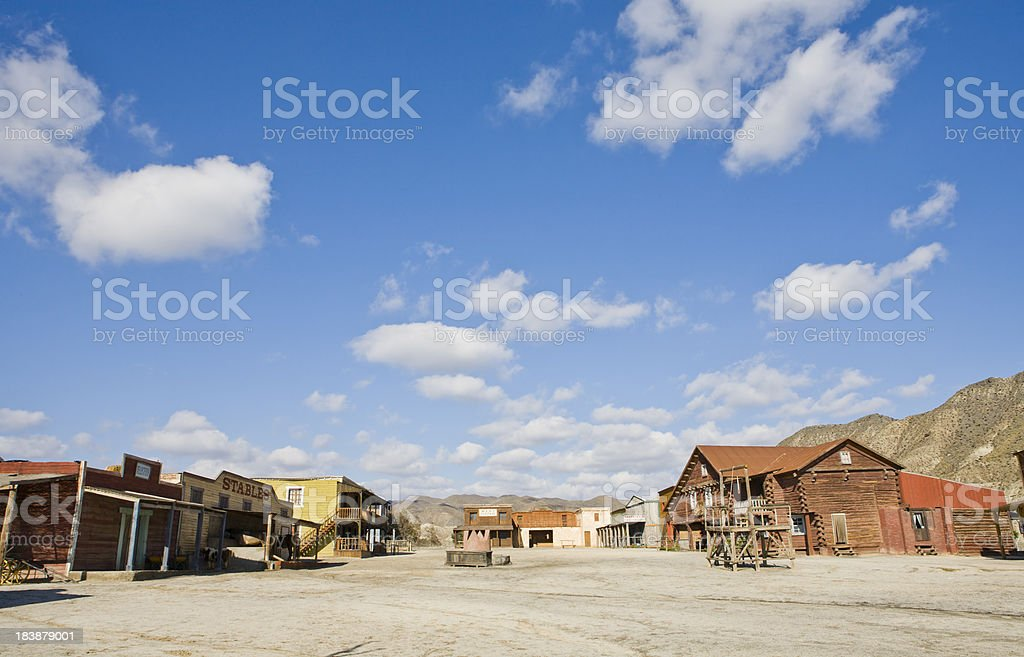 Wild west town stock photo