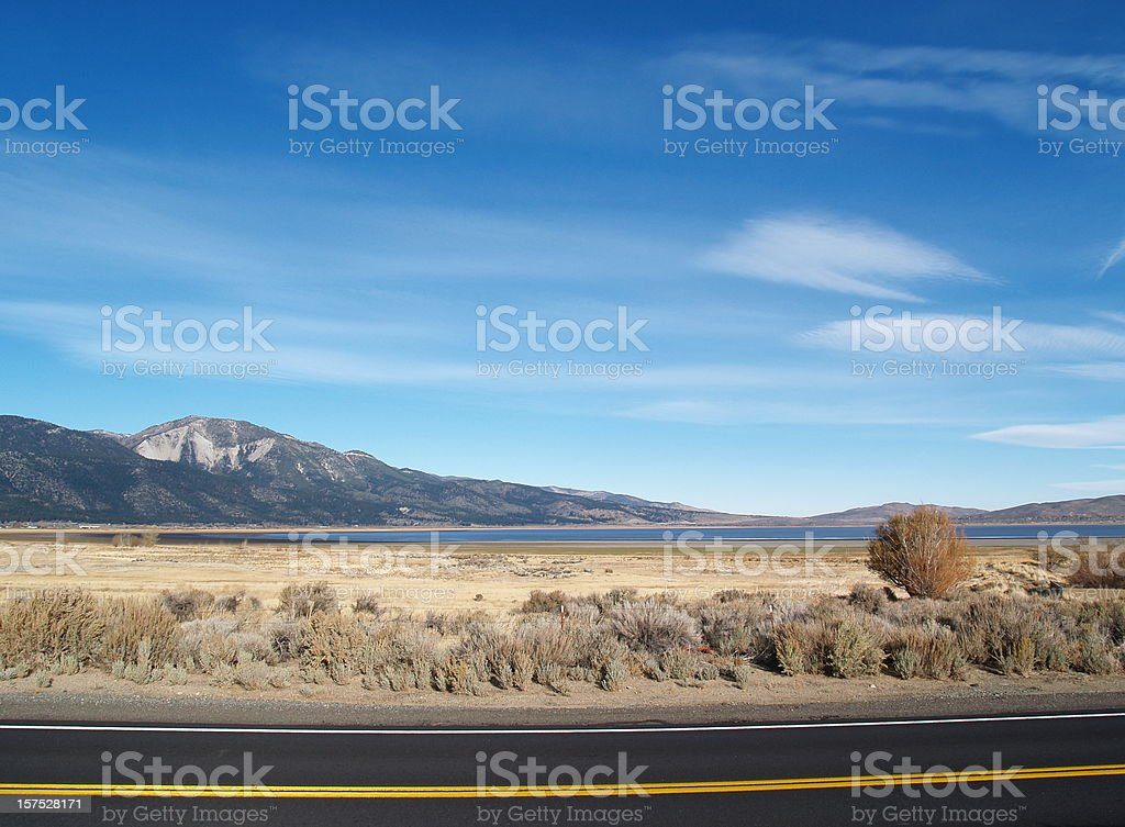 Wild West - Washoe Lake, Nevada stock photo