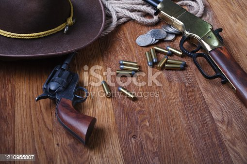 istock Wild west weapon and ammunition 1210955807